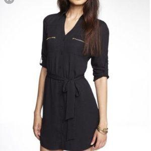 NWT Express Portofino Button Up Dress